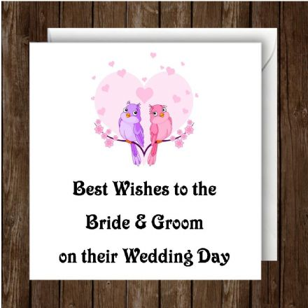 Personalised Wedding Day Card Birds